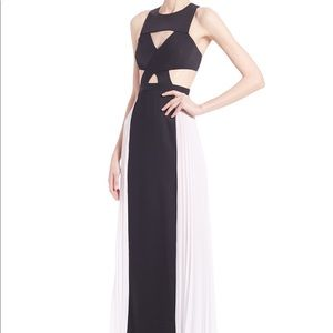 BCBG White and Black Gown -NWT